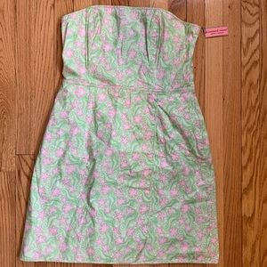 Vineyard vines strapless dress, size 14 NWT